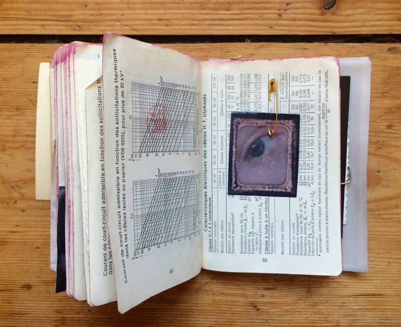 Notebook of curiosities - incoming mail art by Laurence Gillot Febr. 2018