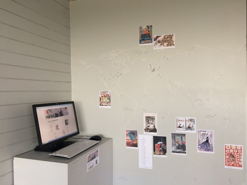 Weltkarten-Übersicht der Wohnorte meiner Collab-Friends / Overview where my collaborations friends are living