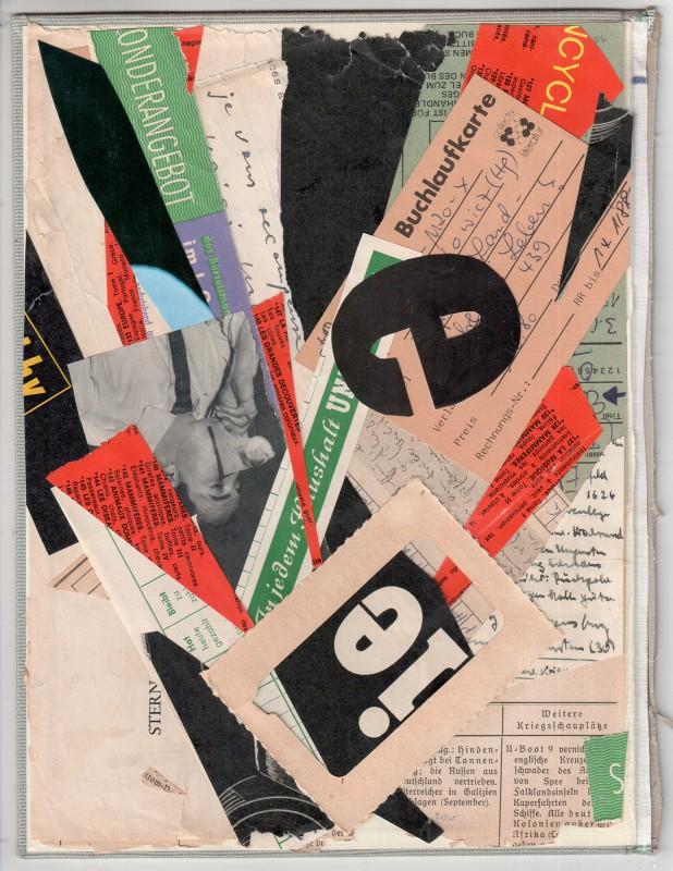 Hommage to Kurt Schwitters - Buchlaufkarte - 2018 -26,2 x 19,8