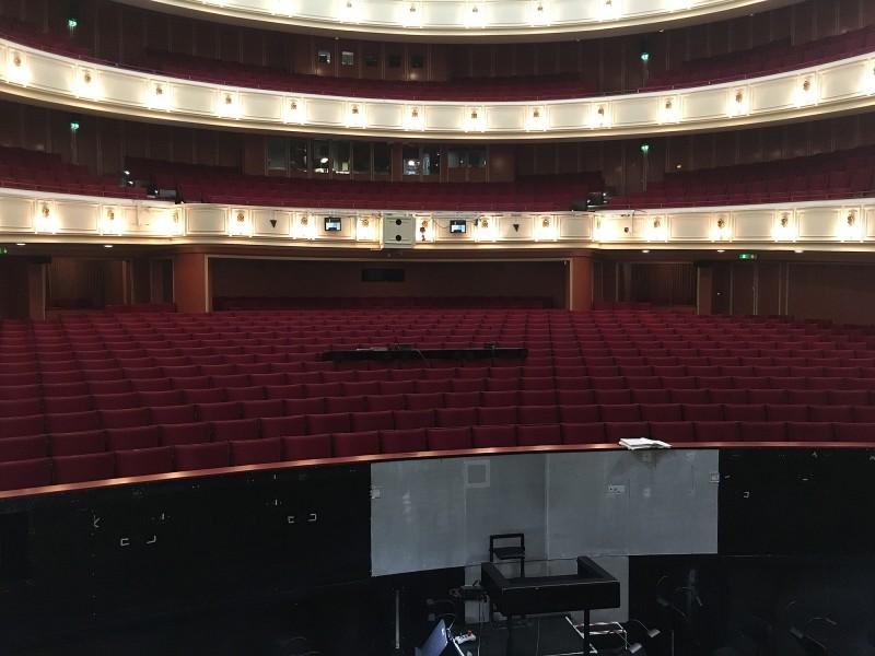 Führung Opernhaus Düsseldorf 2018 Blick von der Bühne