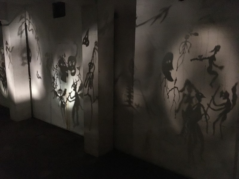 Christian Boltanski: Théâtre d´Ombres II /  Totentanz II / Dance of Death II- 1984/2002 at Zentrum für internationale Lichtkunst Unna 2018