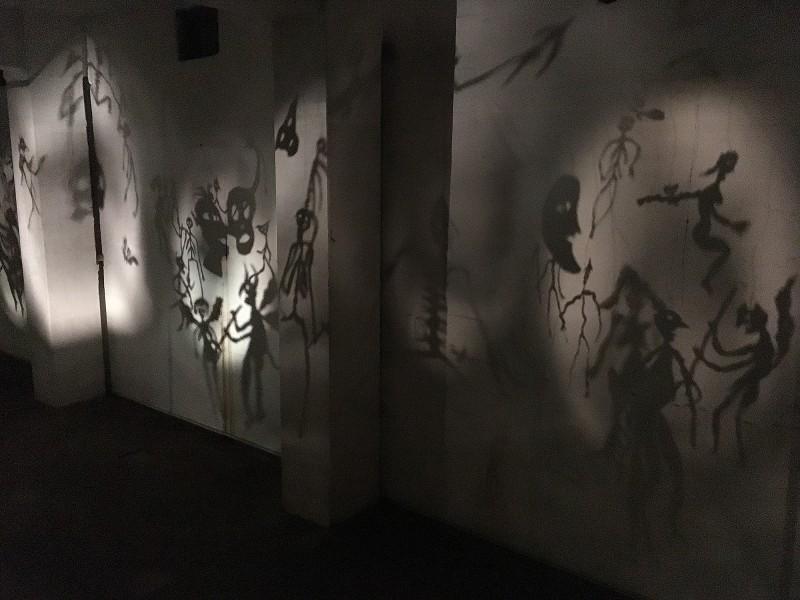 Christian Boltanski: Théâtre d´Ombres II /  Totentanz II / Dance of Death II- 1984/2002 at Zentrum für internationale Lichtkunst Unna 2018