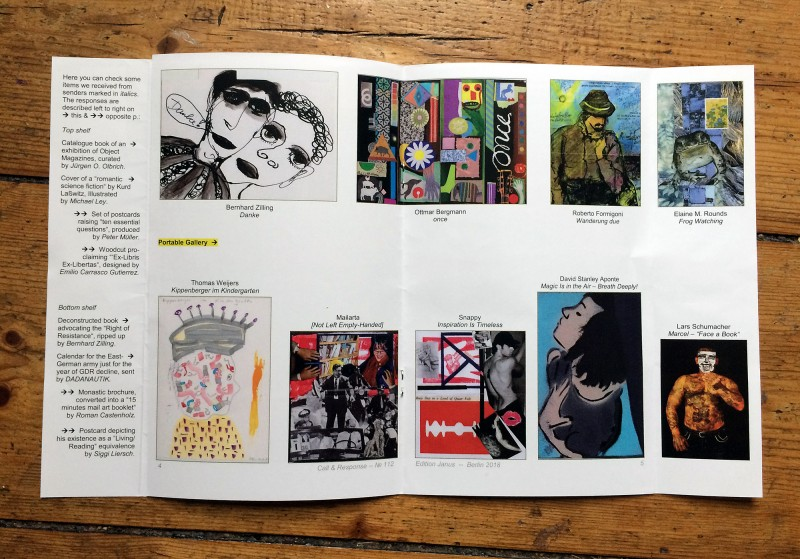 Edition Janus Mail Art Megazine - second double page
