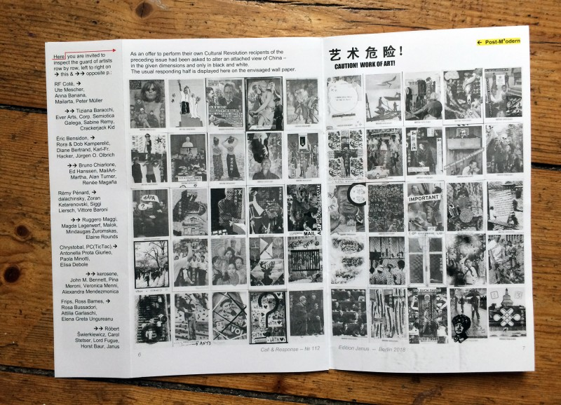 Edition Janus Mail Art Megazine - third double page -