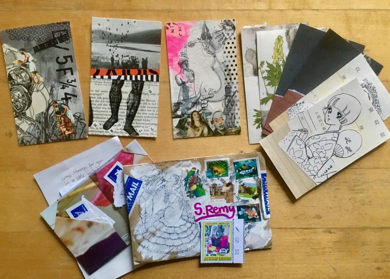 Incoming Mail Art from Vizma Bruns AUS August 2018