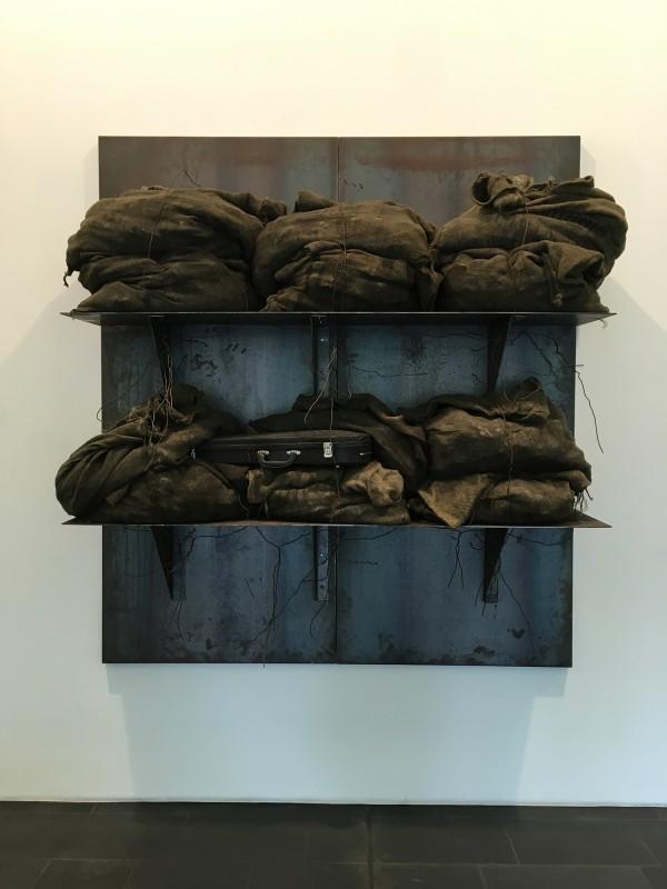Jannis Kounellis-  ohne Titel - untitled 2000 - im Museum Küppersmühle 2018