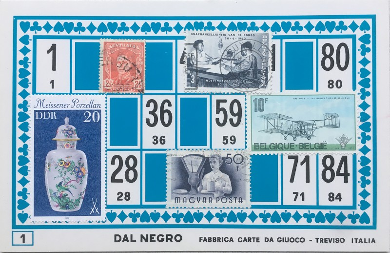 Mail Art Bingo No1 of 40 for KART assembling magazine running by David Dellafiora