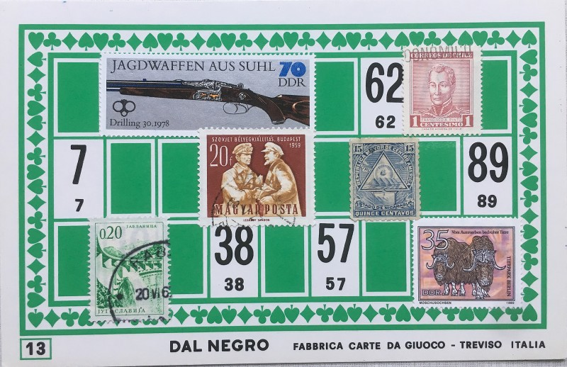 Mail Art Bingo No13 of 40 for KART assembling magazine running by David Dellafiora