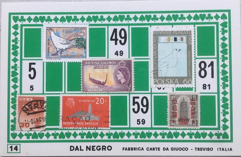 Mail Art Bingo No14 of 40 for KART assembling magazine running by David Dellafiora
