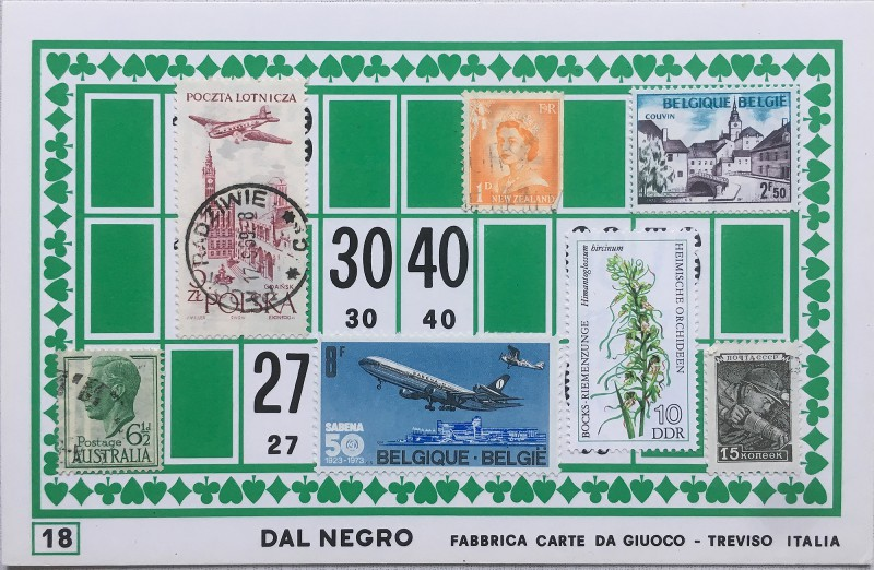 Mail Art Bingo No18 of 40 for KART assembling magazine running by David Dellafiora