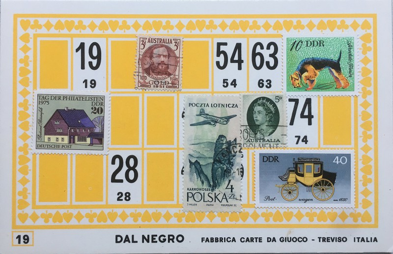 Mail Art Bingo No19 of 40 for KART assembling magazine running by David Dellafiora