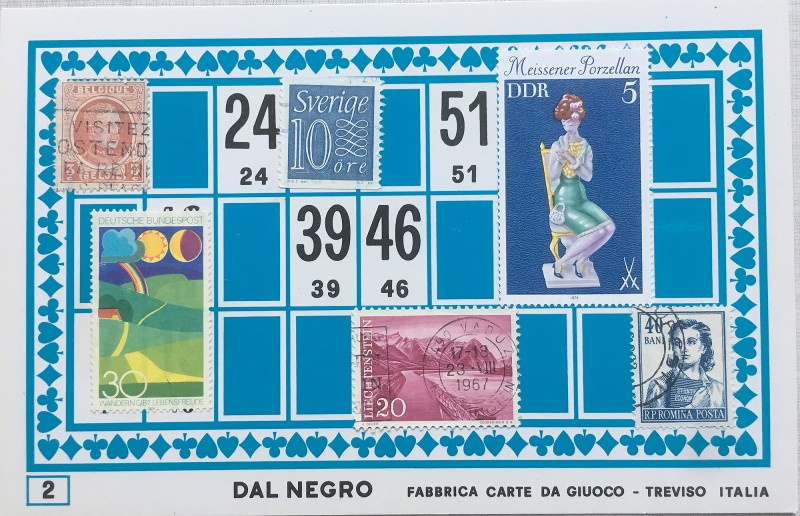 Mail Art Bingo No2 of 40 for KART assembling magazine running by David Dellafiora