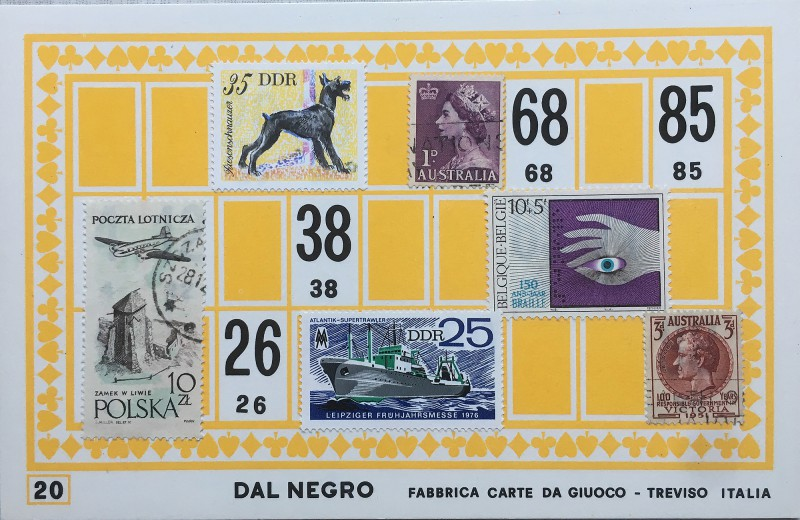 Mail Art Bingo No20 of 40 for KART assembling magazine running by David Dellafiora