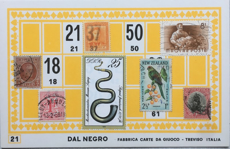 Mail Art Bingo No21 of 40 for KART assembling magazine running by David Dellafiora