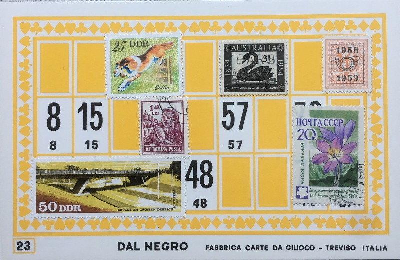 Mail Art Bingo No23 of 40 for KART assembling magazine running by David Dellafiora