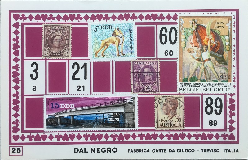 Mail Art Bingo No25 of 40 for KART assembling magazine running by David Dellafiora