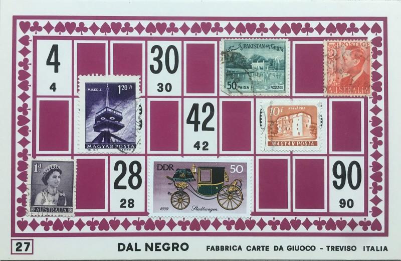 Mail Art Bingo No27 of 40 for KART assembling magazine running by David Dellafiora