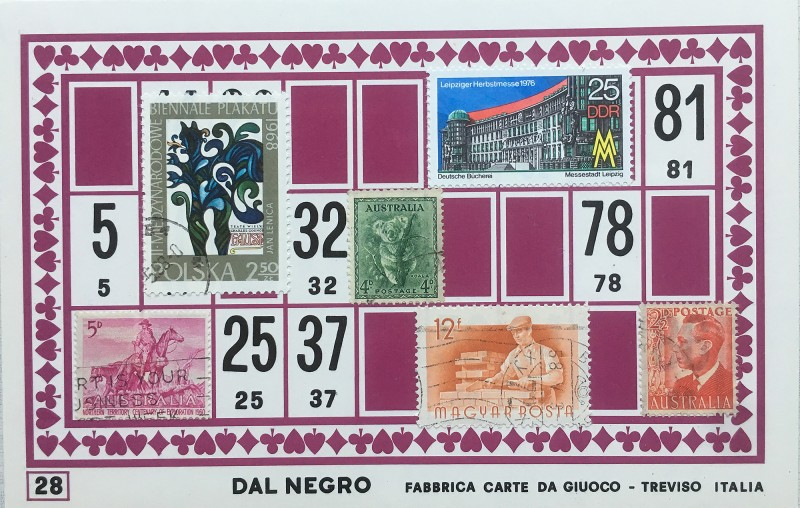 Mail Art Bingo No28 of 40 for KART assembling magazine running by David Dellafiora