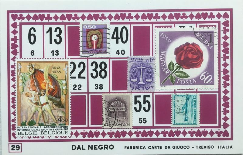 Mail Art Bingo No29 of 40 for KART assembling magazine running by David Dellafiora