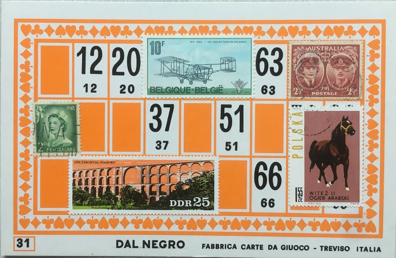 Mail Art Bingo No31 of 40 for KART assembling magazine running by David Dellafiora