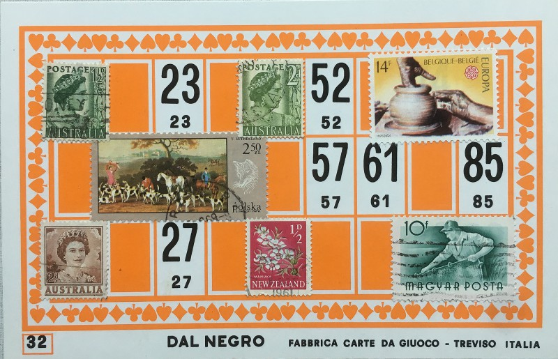 Mail Art Bingo No32 of 40 for KART assembling magazine running by David Dellafiora