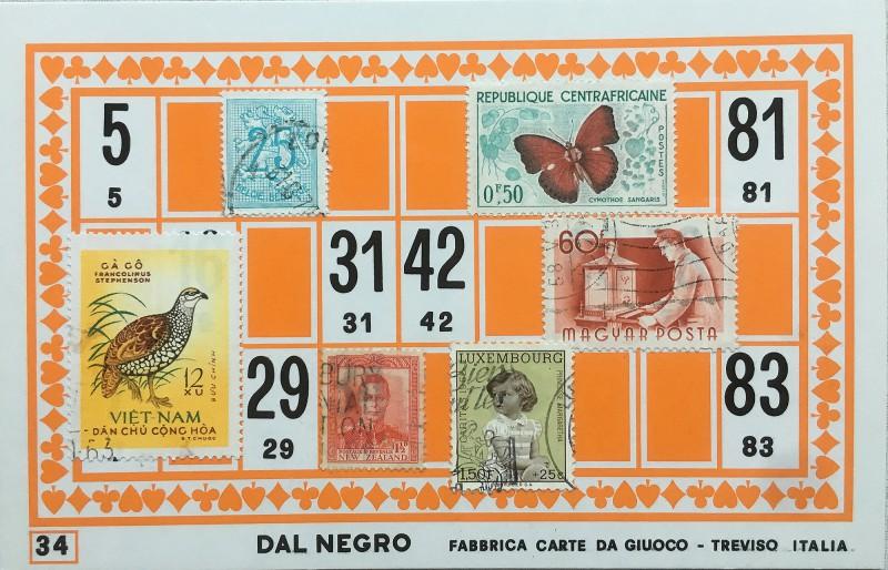 Mail Art Bingo No34 of 40 for KART assembling magazine running by David Dellafiora
