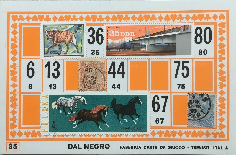 Mail Art Bingo No35 of 40 for KART assembling magazine running by David Dellafiora