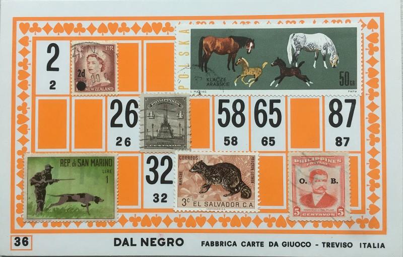 Mail Art Bingo No36 of 40 for KART assembling magazine running by David Dellafiora