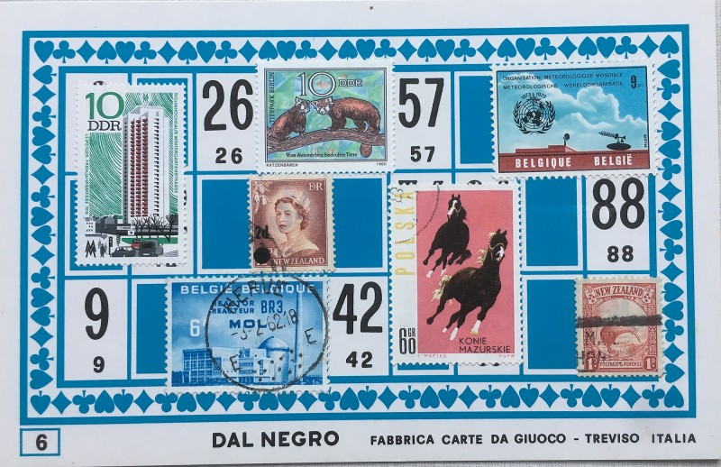 Mail Art Bingo No6 of 40 for KART assembling magazine running by David Dellafiora