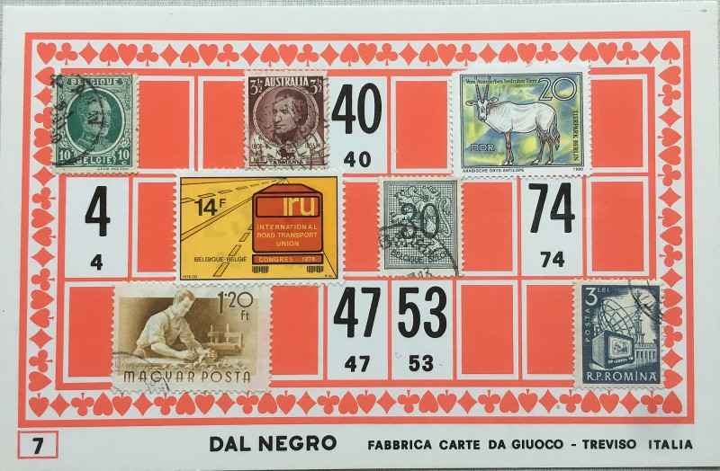 Mail Art Bingo No7 of 40 for KART assembling magazine running by David Dellafiora