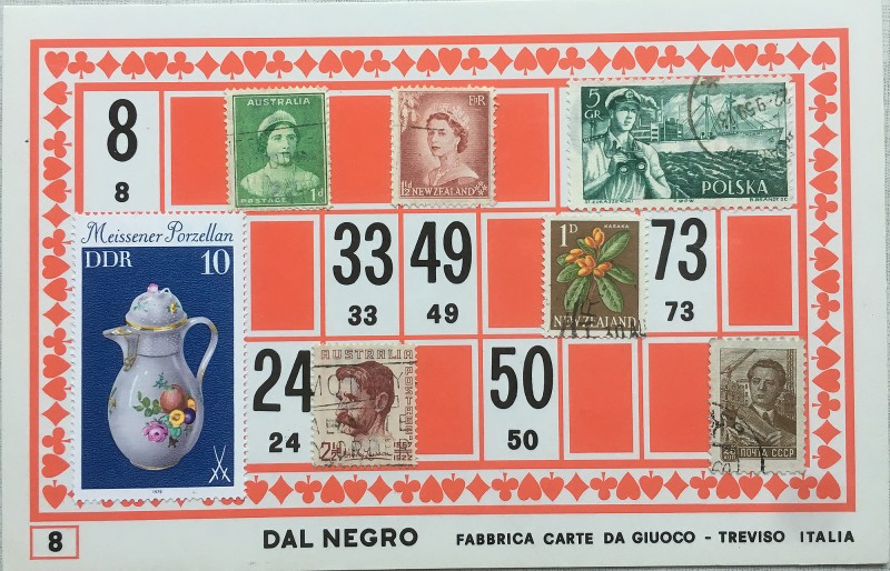 Mail Art Bingo No8 of 40 for KART assembling magazine running by David Dellafiora