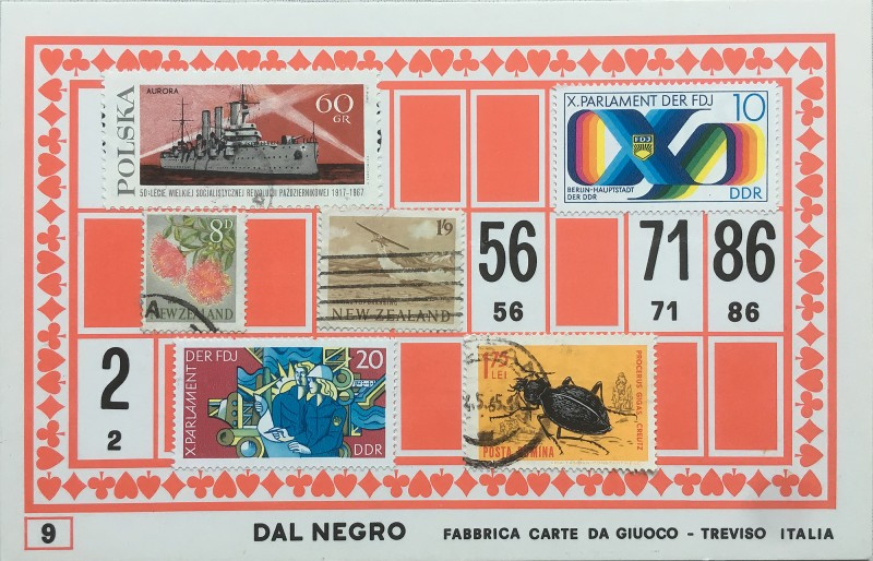 Mail Art Bingo No9 of 40 for KART assembling magazine running by David Dellafiora