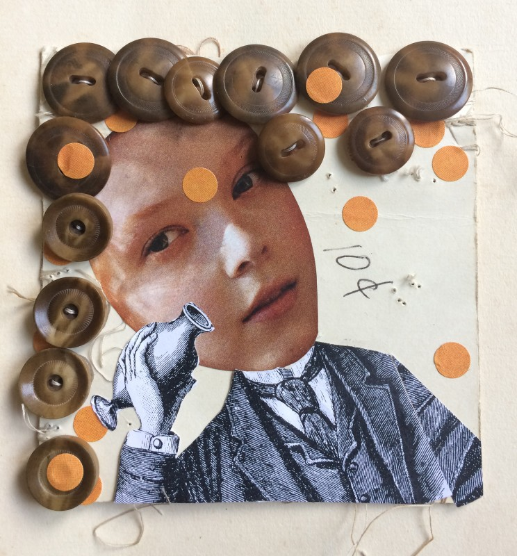 No96 - 1 - A Set of  Eight Vintage Button Cards Lynn Skordal and Sabine Remy 2018