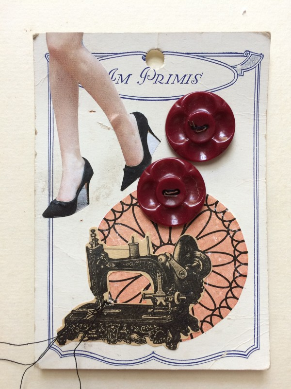 No96 - 2 - A Set of  Eight Vintage Button Cards Lynn Skordal and Sabine Remy 2018