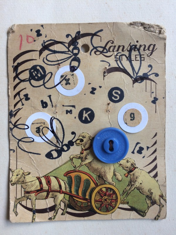 No96 - 4 - A Set of Eight Vintage Button Cards Lynn Skordal and Sabine Remy 2018