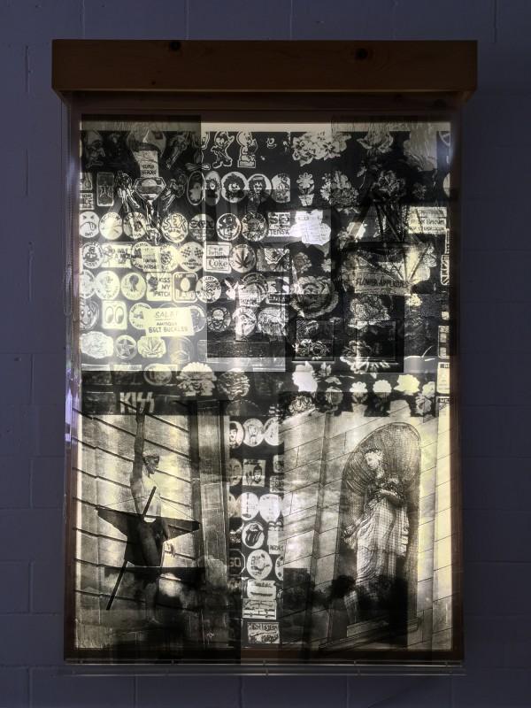 Robert Rauschenberg: Sling-Shots No 6 Black State 1995 / Schleudern beleuchtet No6 Schwarze Fassung - aus der Dauerausstellung im Lehmbruck Museum