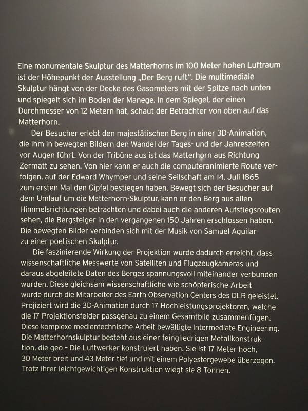 Ausstellungstafel mit Text in deutsch von - Exhibition board with a text by Nils Sparwasser Peter Pachnicke