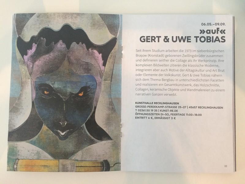 Kunsthalle Recklinghausen - auf - Gert und Uwe Tobias - Begleitheft