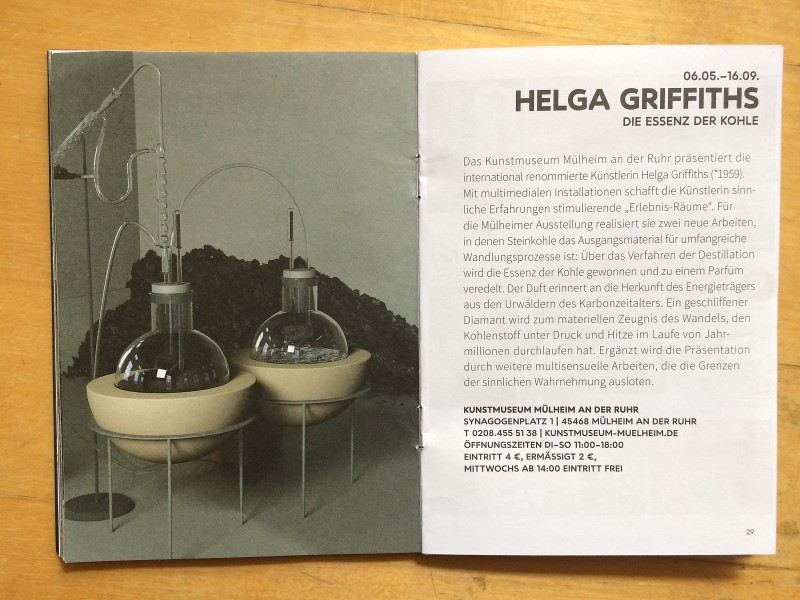 Kunstmuseum Muelheim an der Ruhr - Helga Griffiths - Die Essenz der Kohle - Begleitheft