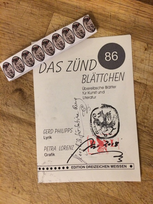 Das Zündblättchen 86 - Gerd Phillips Lyrik and Petra Lorenz Graphik
