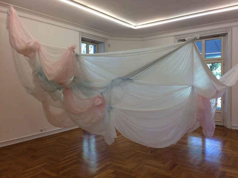 Karla Black - Story Of A Sensible Length 2014 at Museum Morsbroich - Leverkusen - Der flexible Plan 2018