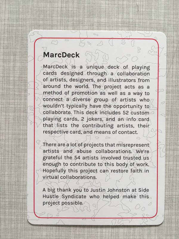 More infos about Marcdeck