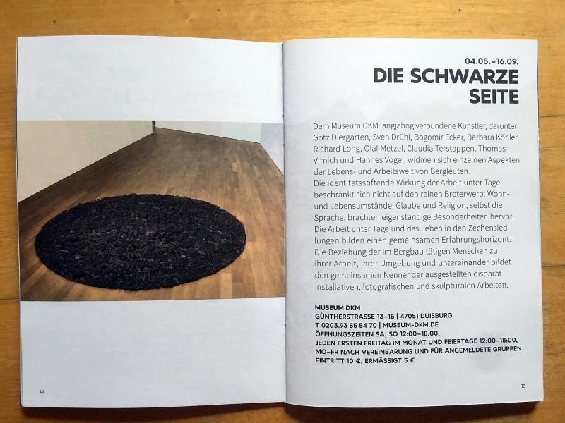 Museum DKM Duisburg Die Schwarze Seite - aus dem Begleitheft