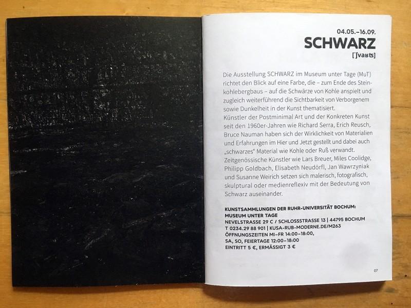 Museum unter Tage MuT der Kunstsammling der Ruhr-Universitaet Bochum - aus dem Begleitheft