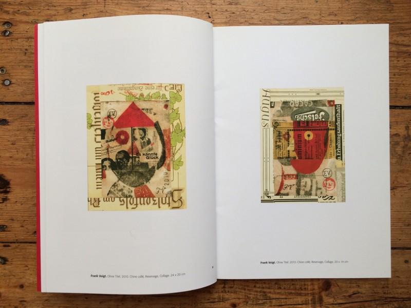 Frank Voigt - MERZ Katalog by Frank Voigt and Wolfgang Petrovsky - Doppelseite Frank Voigt