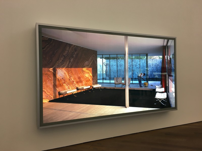 Jeff Wall - Morning Cleaning, Mies van der Rohe Foundation Barcelona - 1999 - at MUDAM Luxembourg - Appearance