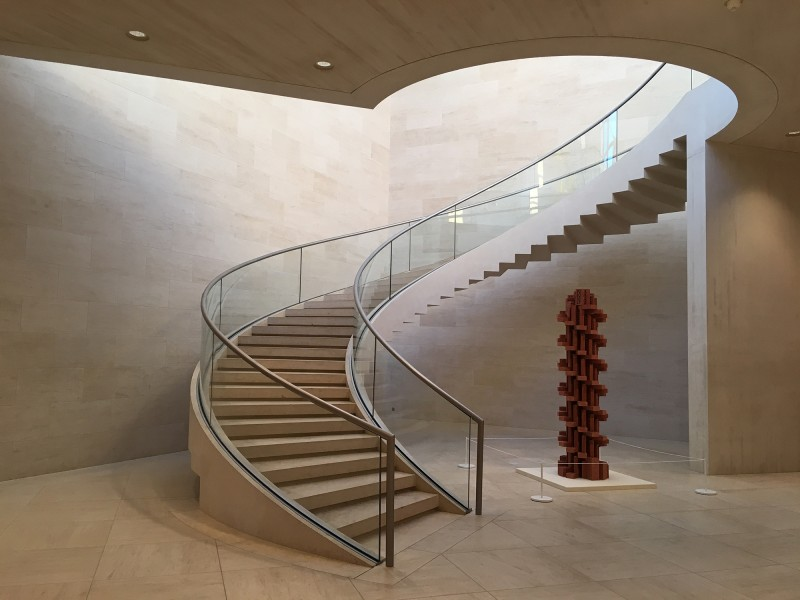 Staircase and Vincent Ganivet - Tour double helicoide - 2011 - at MUDAM Luxembourg