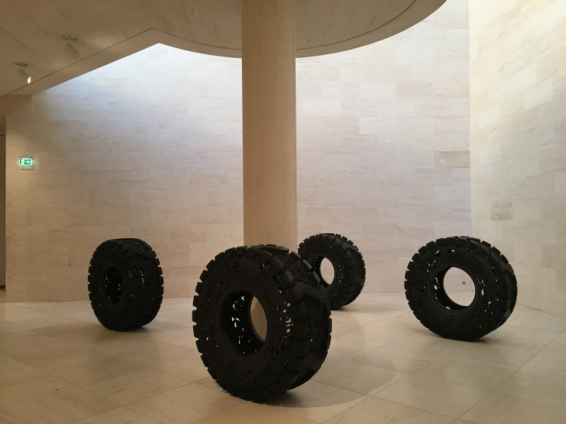Wim Delvoye - Untitled - Truck Tyres - 2013 and 2017 - at MUDAM Luxembourg