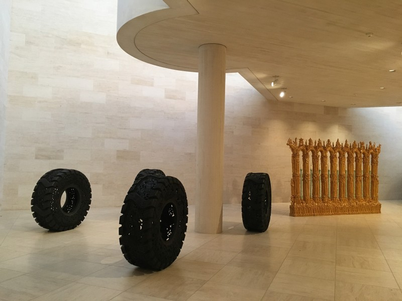 Wim Delvoye - Untitled and Elmar Trenkwalder - WVZ 221 - at MUDAM Luxembourg