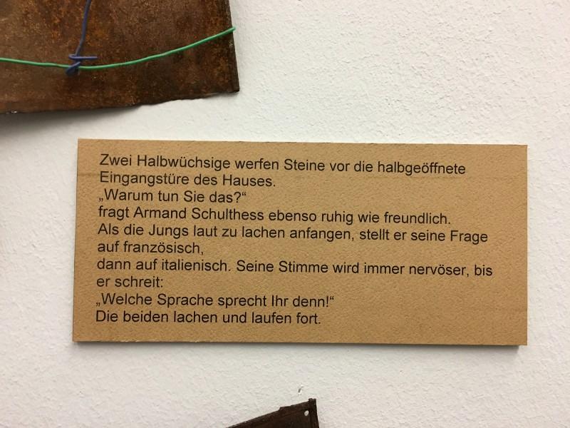 Detail 11 von Enzyklopaedie im Wald 1952 - 1972 Armand Schulthess -  aus dem Ausstellungsbereich Der Hang zum Gesamtkunstwerk in der Kunsthalle Duesseldorf - Harald Szeemann Museum der Obsessionen
